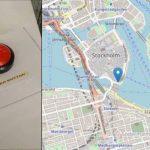 Un gros bouton rouge sans fil à longue portée alimenté par une pile bouton