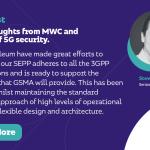 Quelques réflexions de MWC et le rôle de la sécurité 5G